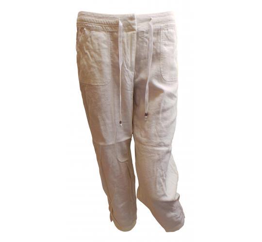 Wholesale Joblot of 10 Ladies De-Branded White Tie Waist Trousers Sizes 8-20