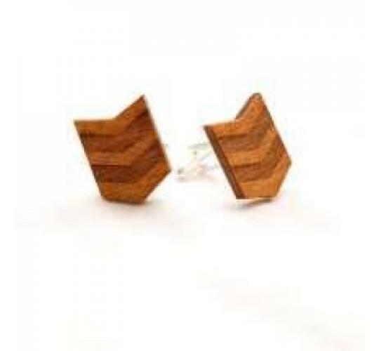 Transformers Birch Wood cuff links