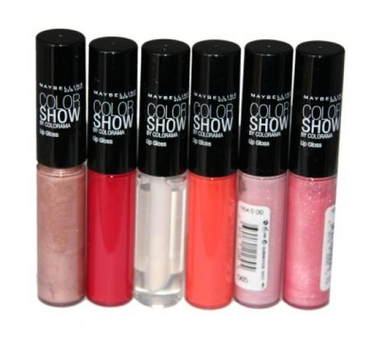 12 x Maybelline Color Show Lip Gloss | 6 shades |