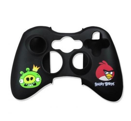 Job Lot of 24 x Angry Birds Controller Black Silicon Skin Wrap  - Xbox 360