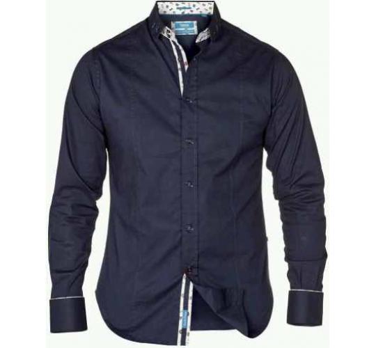 D555 Mens Navy Long Shirt TOBY