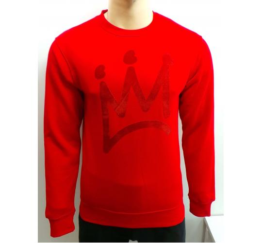 One Off Joblot of 10 Young Britannia Mens Red Crown Sweatshirts Sizes XS-L