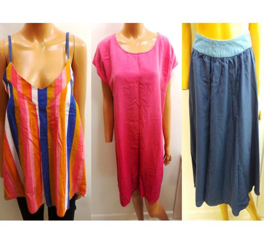 Joblot of 8 Ladies Levis Made & Crafted Tops, Shorts, Skirts & A Dress