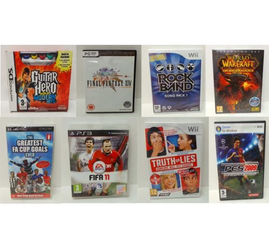 Wholesale Joblot of 100 Assorted Video Games Playstation, Nintendo & PC