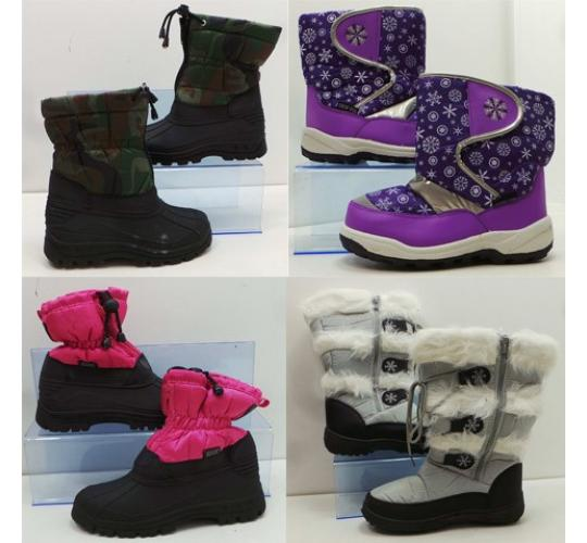 Wholesale Joblot of 25 Assorted Snow Fun & Red Rock Boots Mens, Womens & Kids