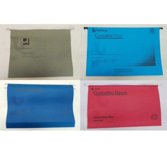 One Off Joblot of 22 Packs of 50 Mixed Suspension Files - 4 Colours
