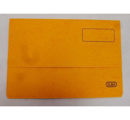 Wholesale Joblot of 20 Packs of 25 Elba Boston Document Wallets Foolscap Yellow