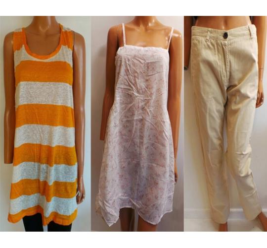 One Off Joblot of 8 Ladies American Vintage Dresses, Tops & Chinos 4 Styles