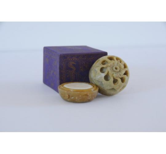 Soild Fragrance Perfume hand-carved soapstone pot 8gr