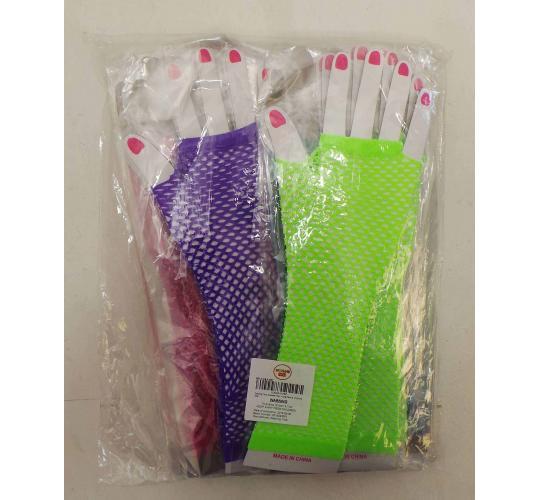 One Off Joblot of 34 Dazzling Toys Assorted Fingerless Fishnet Gloves - 12 Packs
