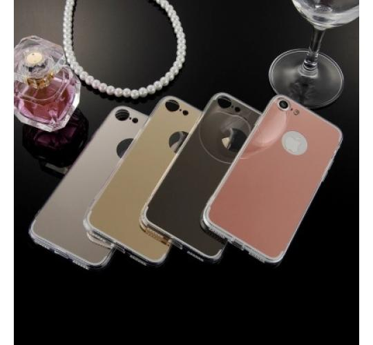 100  x Joblot Luxury Mirror Electroplating Soft Clear TPU Cases For iphone 7