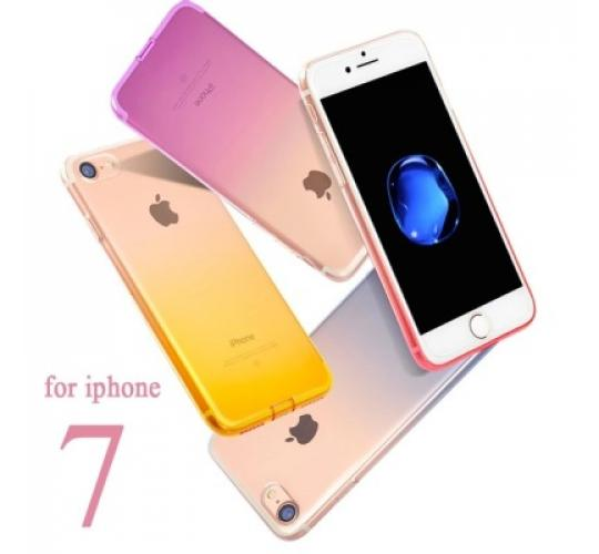 100 x Joblot of Silicon Case Cover for iphone 7 Gradient Colorful Soft Clear TPU