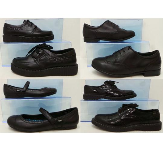 One Off Joblot of 19 Angry Angels Teenage-Adult Black Smart Shoes 5 Styles