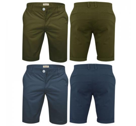 Mens Chino Shorts Stretchy Summer Cotton Half Pant by Stallion