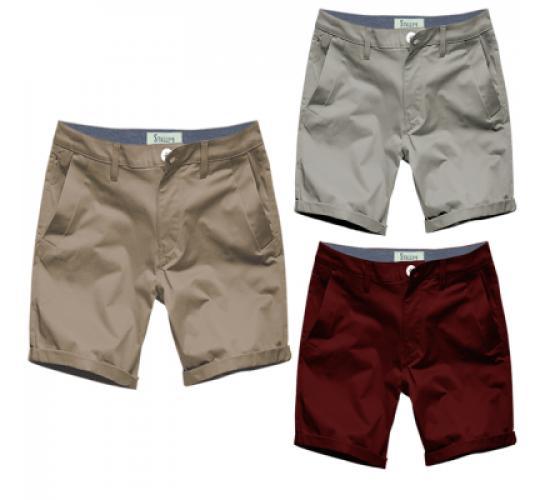 Mens Chino Shorts by Stallion Summer Cotton Twill Half Pant
