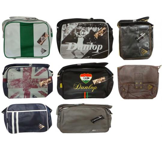 One Off Joblot of 20 Dunlop Bags Mixed Colours & Styles Mostly Messenger
