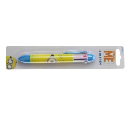 wholesale lot of 1000 x Minions Despicable Me 8 Colours in 1 Pen
