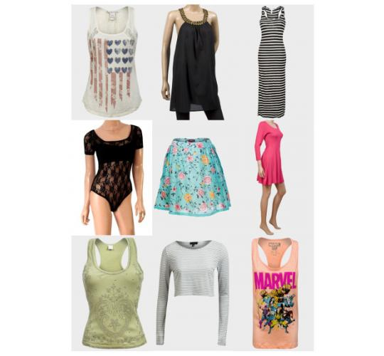 Joblot variety of ex-highstreet women's summer clothes- good range of sizes 6 - 20