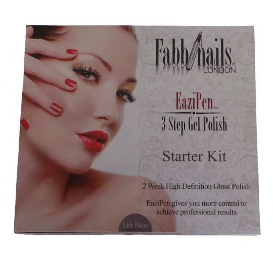 Wholesale Joblot of 5 Fabb Nails Eazi Pen 3 Step Gel Polish Starter Kits