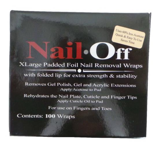 One Off Joblot of 12 Packs of XLarge Padded Foil Nail Removal Wraps (100)