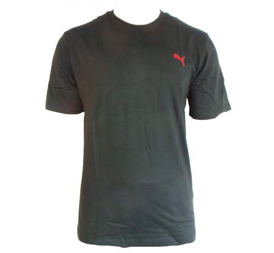 Wholesale Joblot of 10 Mens Puma Black/Red Logo T-Shirts Sizes M-XL
