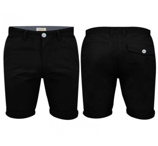 Mens Black Chino Shorts by Stallion