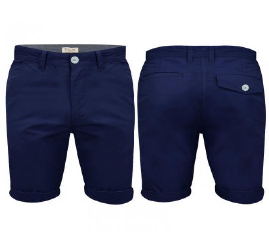 Mens Navy Chino Shorts by Stallion