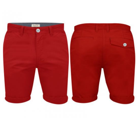 Mens Red Chino Shorts by Stallion