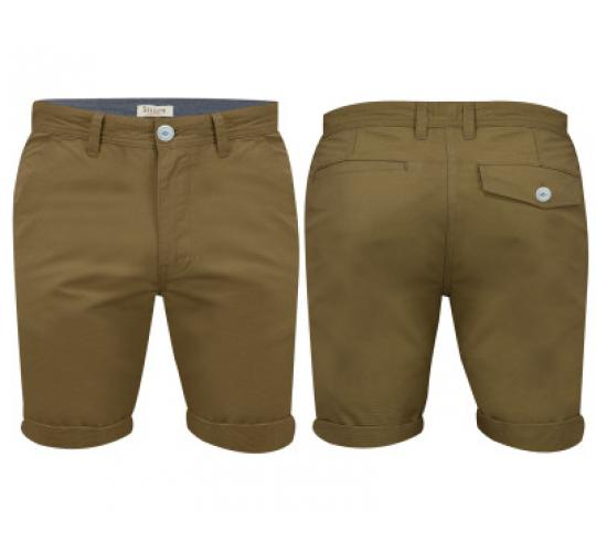 Mens Dark Grey Chino Shorts by Stallion