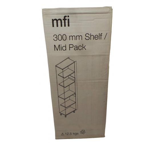 One Off Joblot of 22 MFI 300mm Shelf/Mid Pack