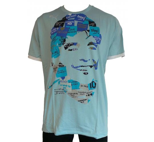 Wholesale Joblot of 10 Mens Puma Diego Maradona T-Shirts Size XXL