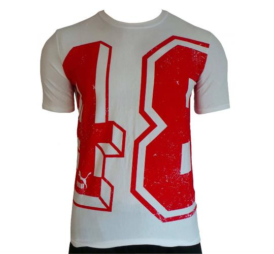 One Off Joblot of 13 Mens Puma White/Red '48' Print T-Shirts XS/S