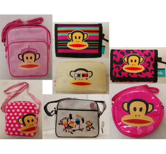 One Off Joblot of 16 Paul Frank Bags & Purses Mixed Styles Girls & Boys