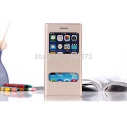 "20 X Joblot Apple iphone6 plus 5.5"" Luxury back cover double windows smart view flip leather Case Assorted Colours"