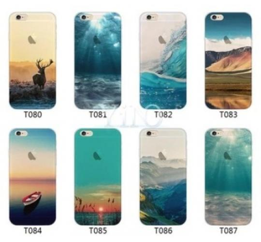 50 x Joblot Assorted Design Transparent Soft TPU Cover Case Skin for iPhone 7