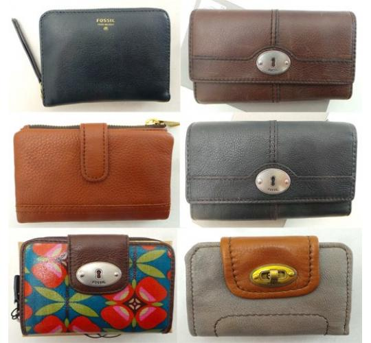 One Off Joblot of 16 Fossil Purses & Clutches Mixed Styles & Colours
