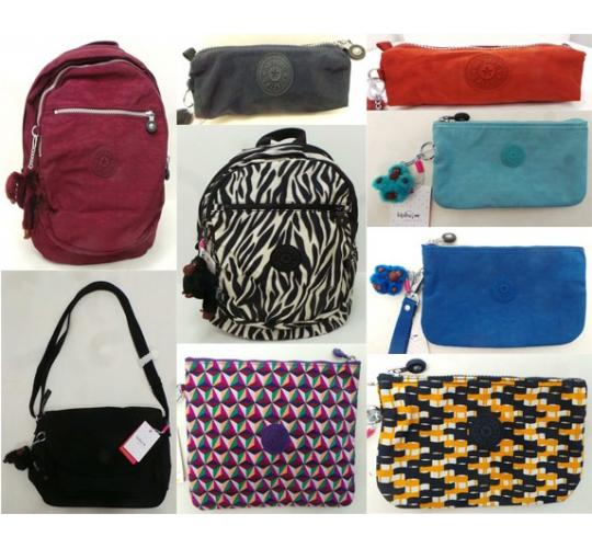 One Off Joblot of 21 Ladies Kipling Bags & Pencil Cases Mixed Designs