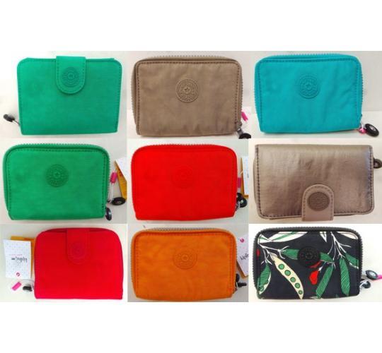 One Off Joblot of 18 Ladies Kipling Medium Wallets Mixed Colours