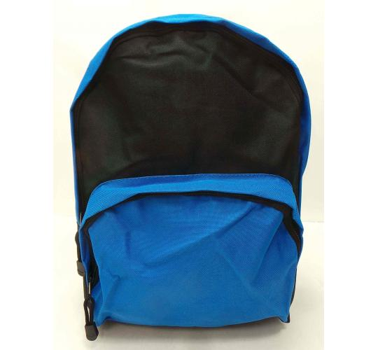 Wholesale Joblot of 50 Black/Blue Backpacks With Curved Handle BB0136RBL
