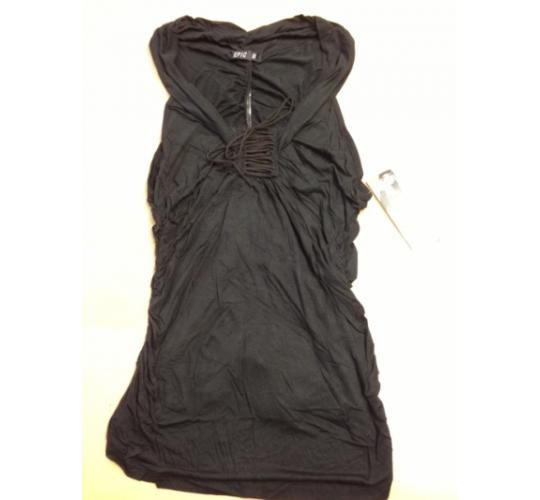 57 Mixed size Black Gathered ladies Jersey Tops
