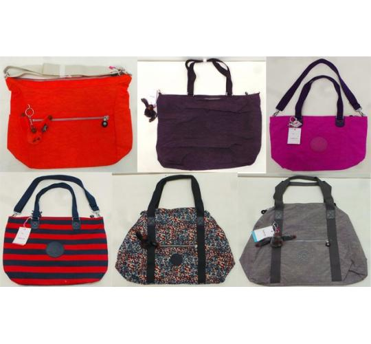 One Off Joblot of 18 Kipling Ladies Bags - Shoulder Bags, Travel Totes & XL Bags