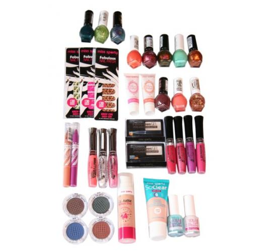 105pc Miss Sporty Assorted Cosmetics