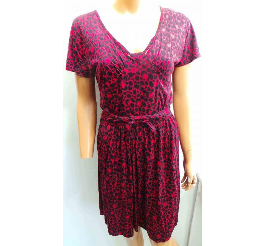 bc5948514b One Off Joblot of 12 Ladies Red Half Sleeve Leopard Print Dresses Size 8