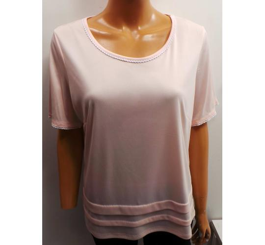 One Off Joblot of 15 Ladies Blush Round Neck Pleated T-Shirts Sizes 14-22