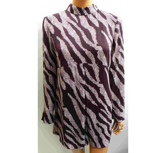 Wholesale Joblot of 12 Ladies Ex-High Street Spotted Zebra Stripe Playsuits