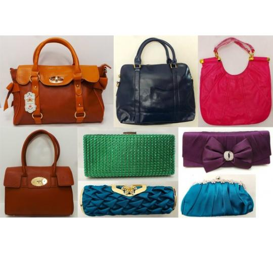 Wholesale Joblot of 50 Assorted Ladies Handbags & Clutch Bags