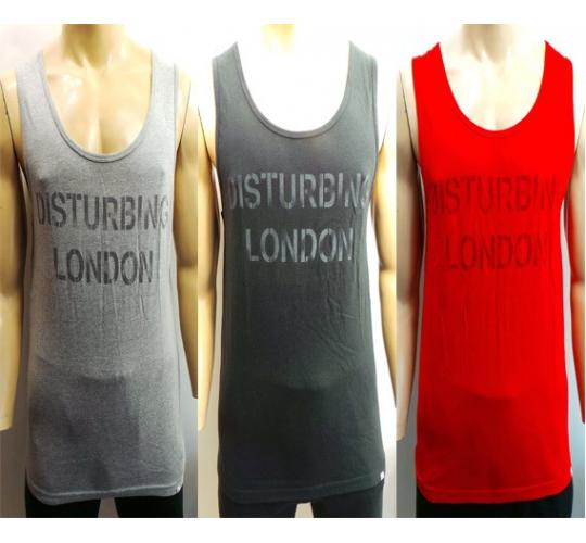 Wholesale Joblot of 20 Disturbing London Mens Vest Tops 4 Colours