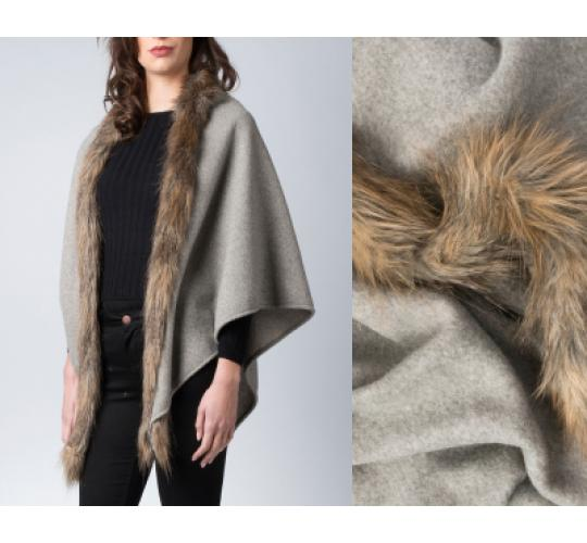 Job Clearance, branded faux fur wrap