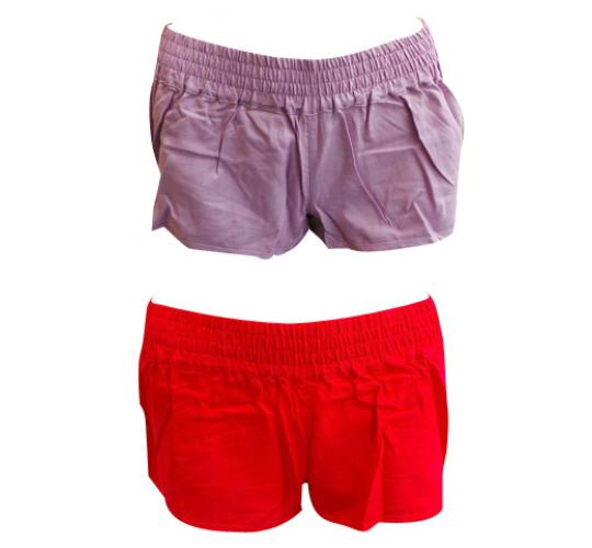 One Off Joblot of 5 Ladies Billabong Purple & Red Beach Shorts Sizes 8 & 10