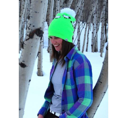 One Off Joblot of 13 Toots Fluorescent Green Sheep Beanie Hats